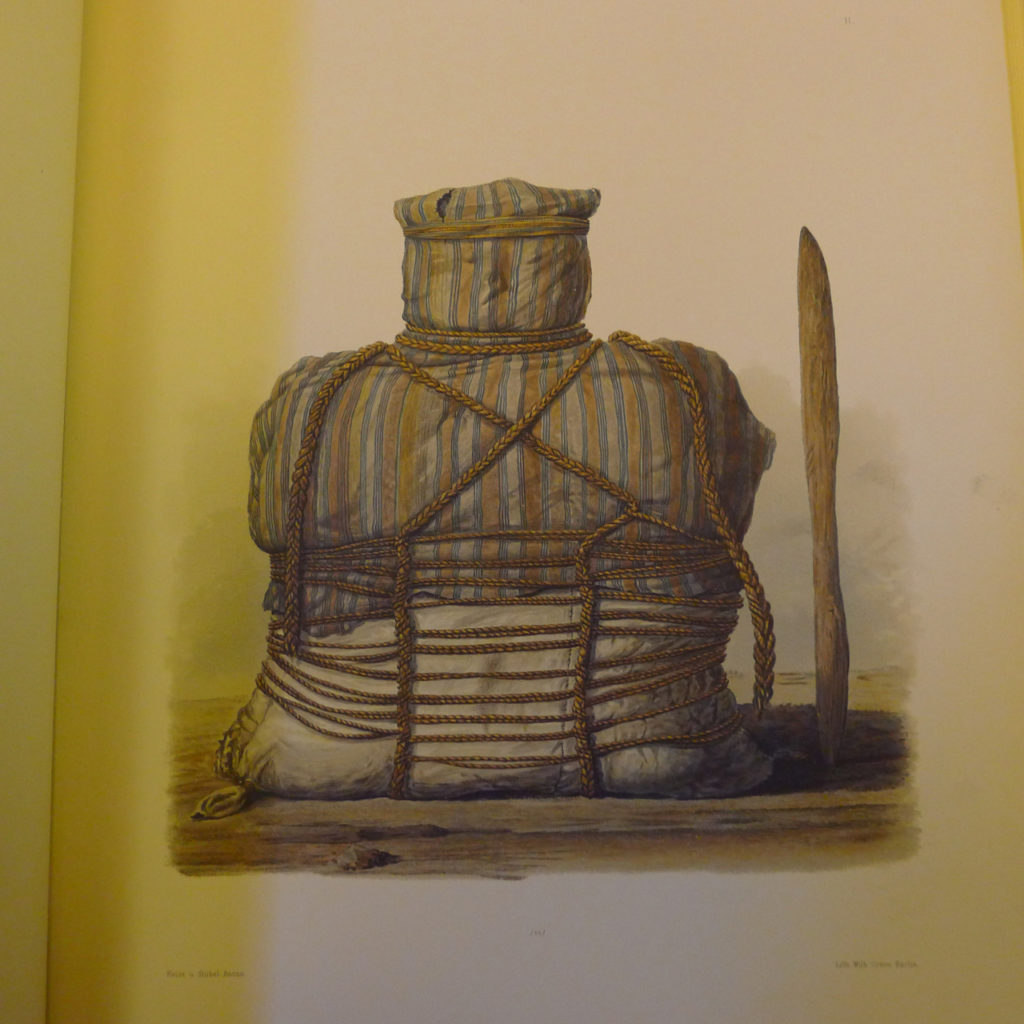 An illustration of mummies from Providence Public Library Special Collections