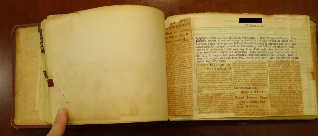 A scrap book from Providence Public Library special collections