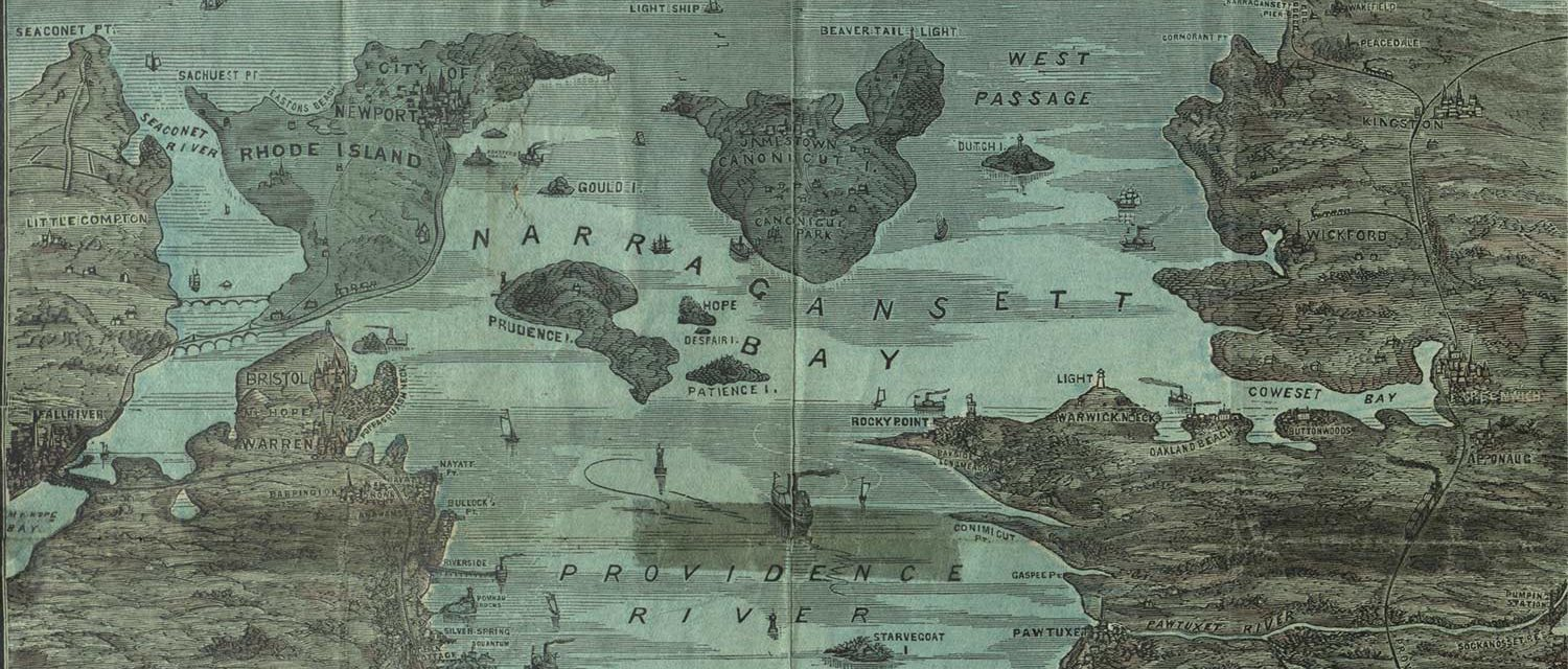 A map of Narragansset Bay - part of the Rhode Island Collections