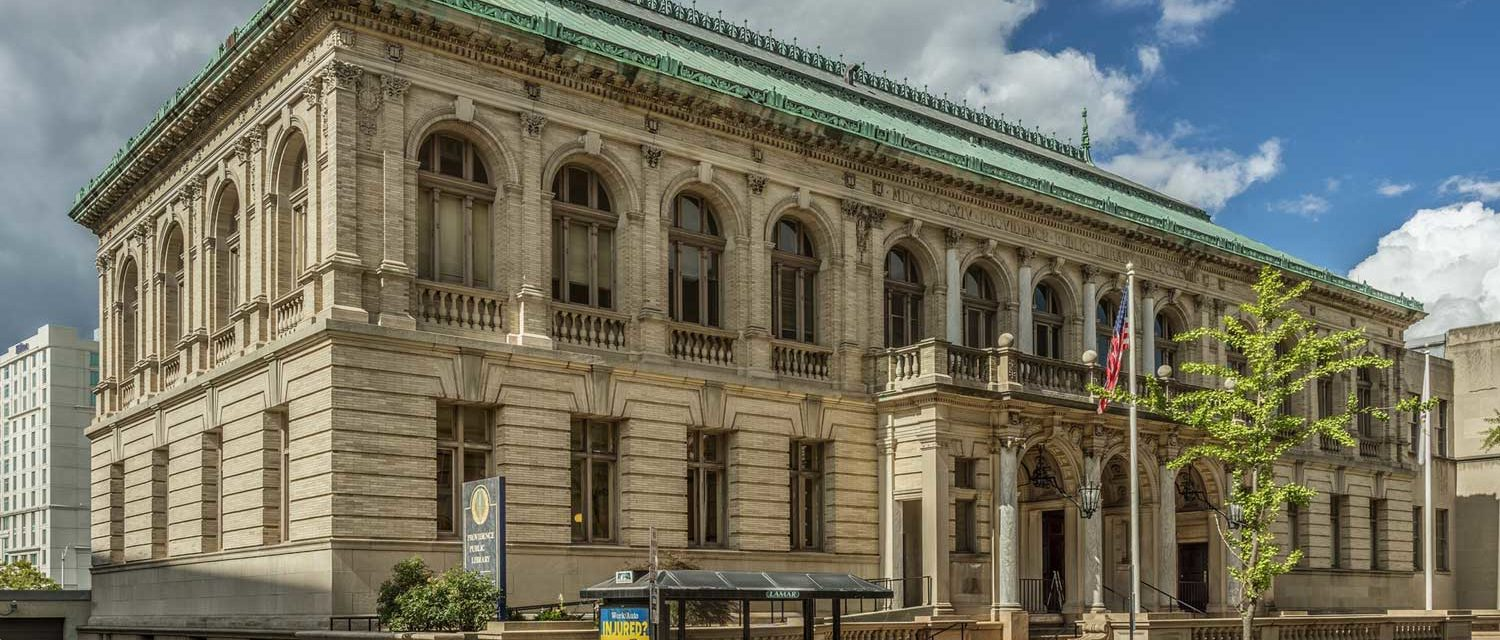 Exterior of the Providence Public Library - facing Washington Street