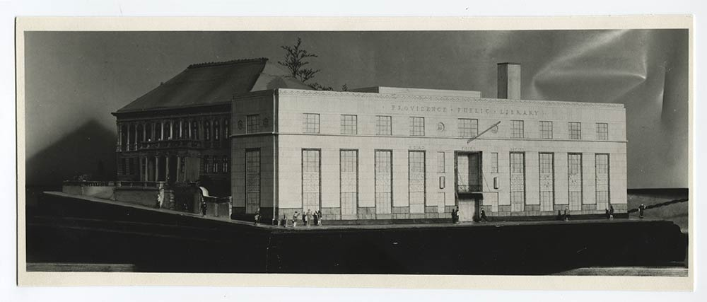 A scale model of the Providence Public Library Empire street building made during the design phase - circa 1940s