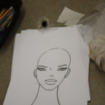 A sketch of a mannequin head