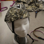 A headdress on a mannequin made as part of the Teen Squad Turbans to Tiaras program