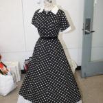 An a frame dress on a dress form