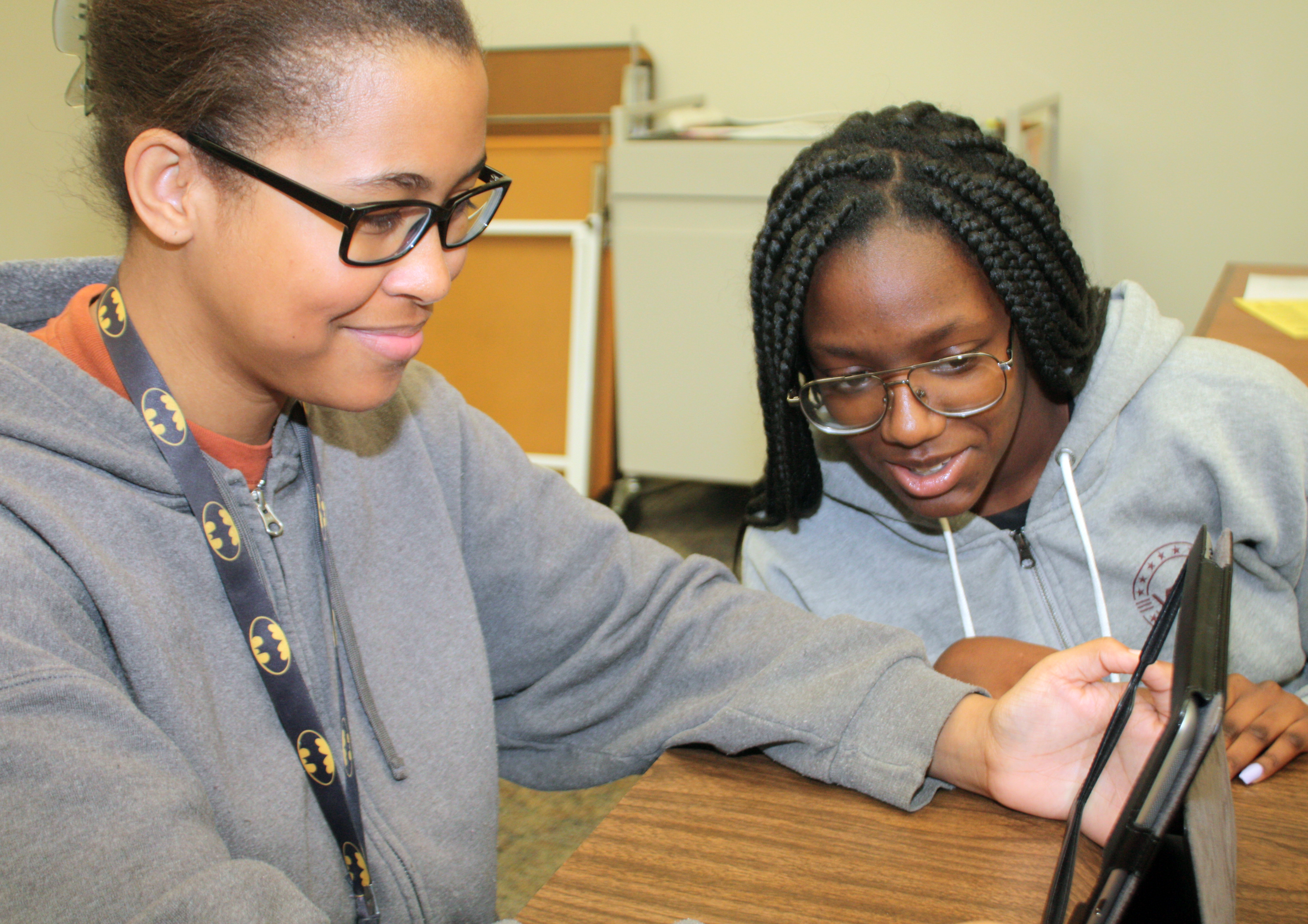 Adults learn tech skills