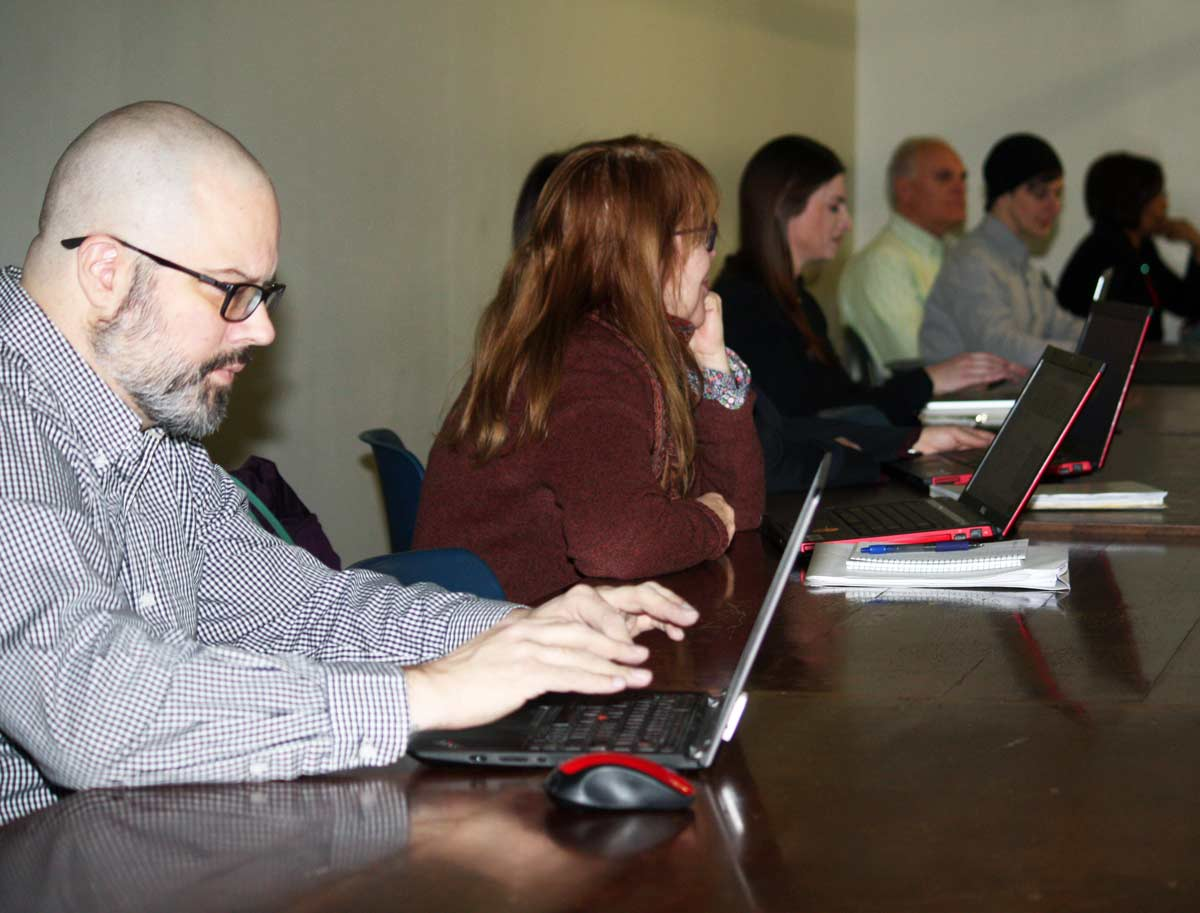 A computer class at Providence Public Library