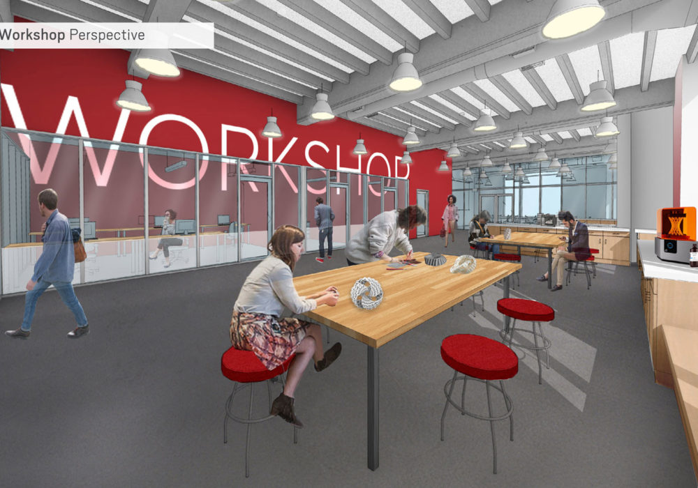 Think Again: Building Transformation - rendering of the workshop