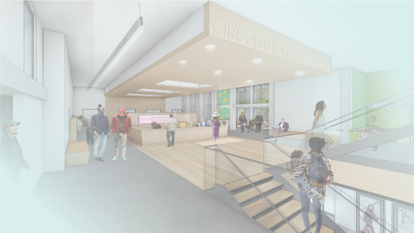 A rendering of the new Providence Public LIbrary