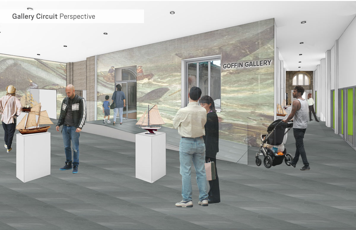 Gallery Walk East - Architect's rendering