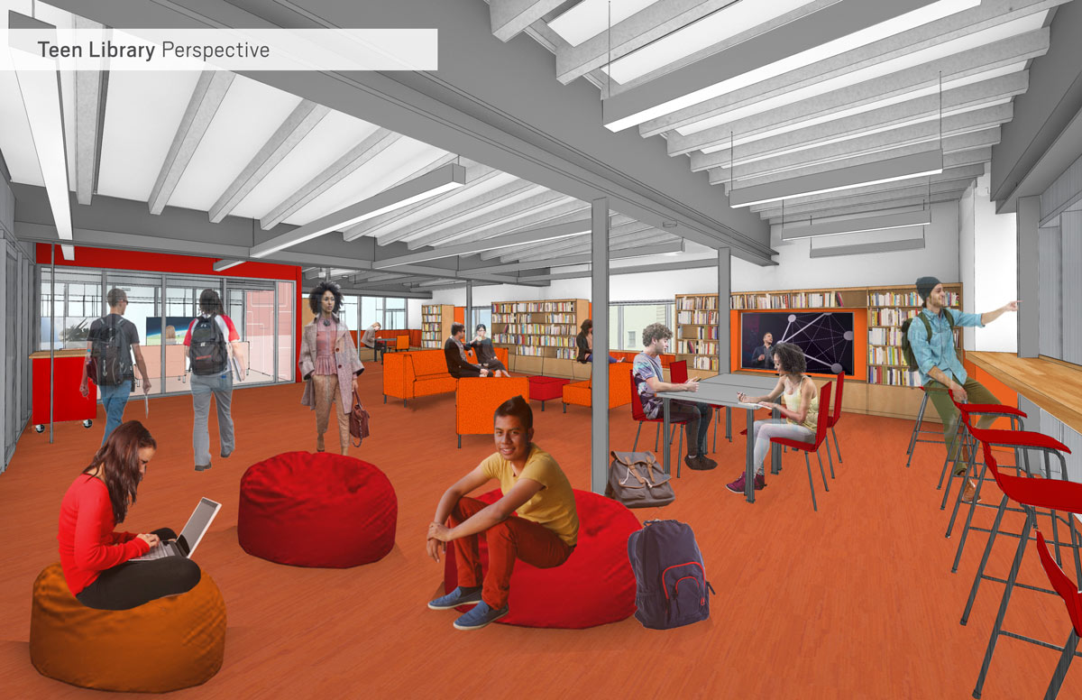 Teens Loft - Architect's rendering