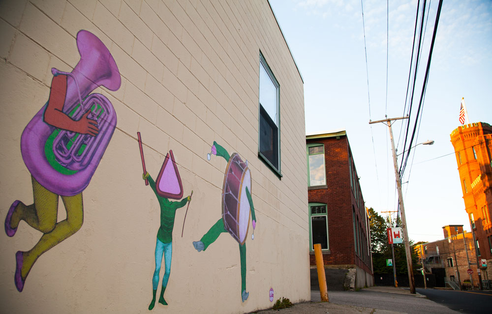 The Imaginary Music Parade, 2017, mural