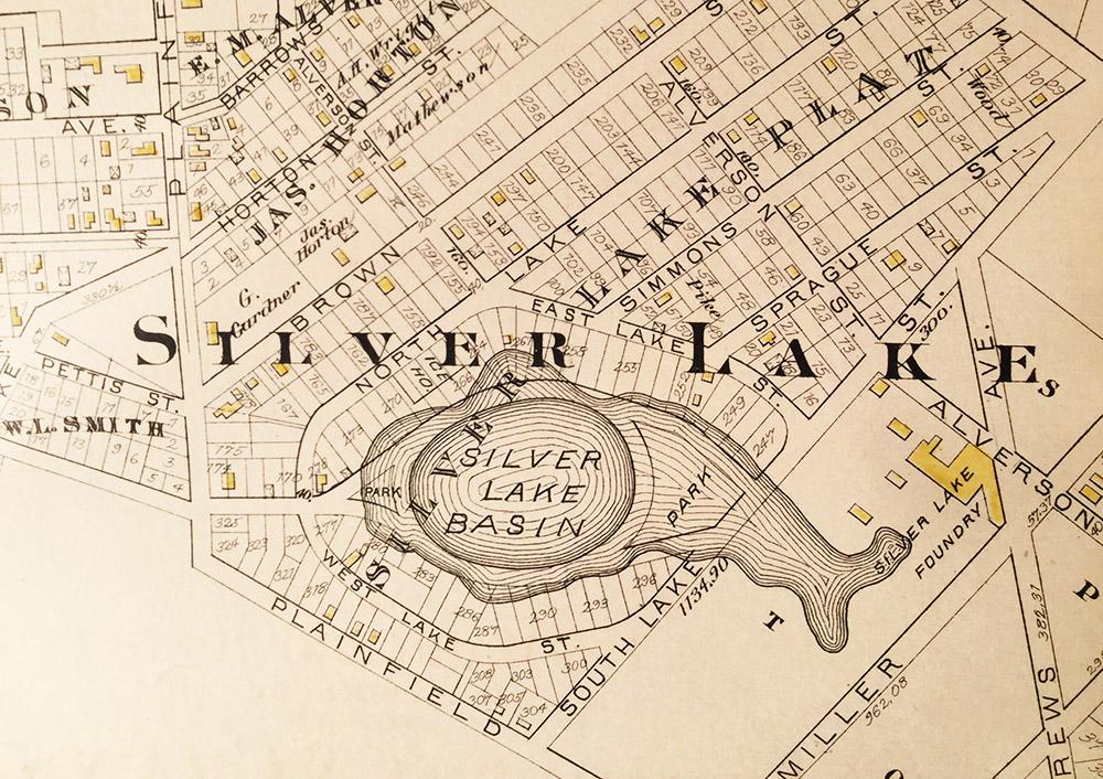 Map Showing Silver Lake Basin