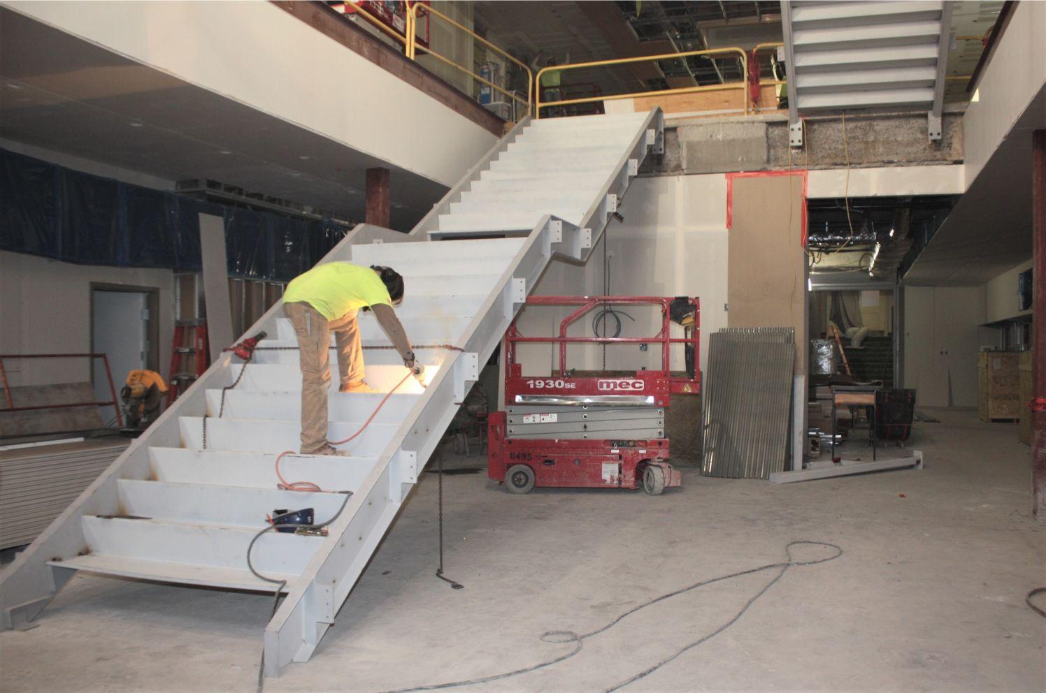 Atrium Staircase Build