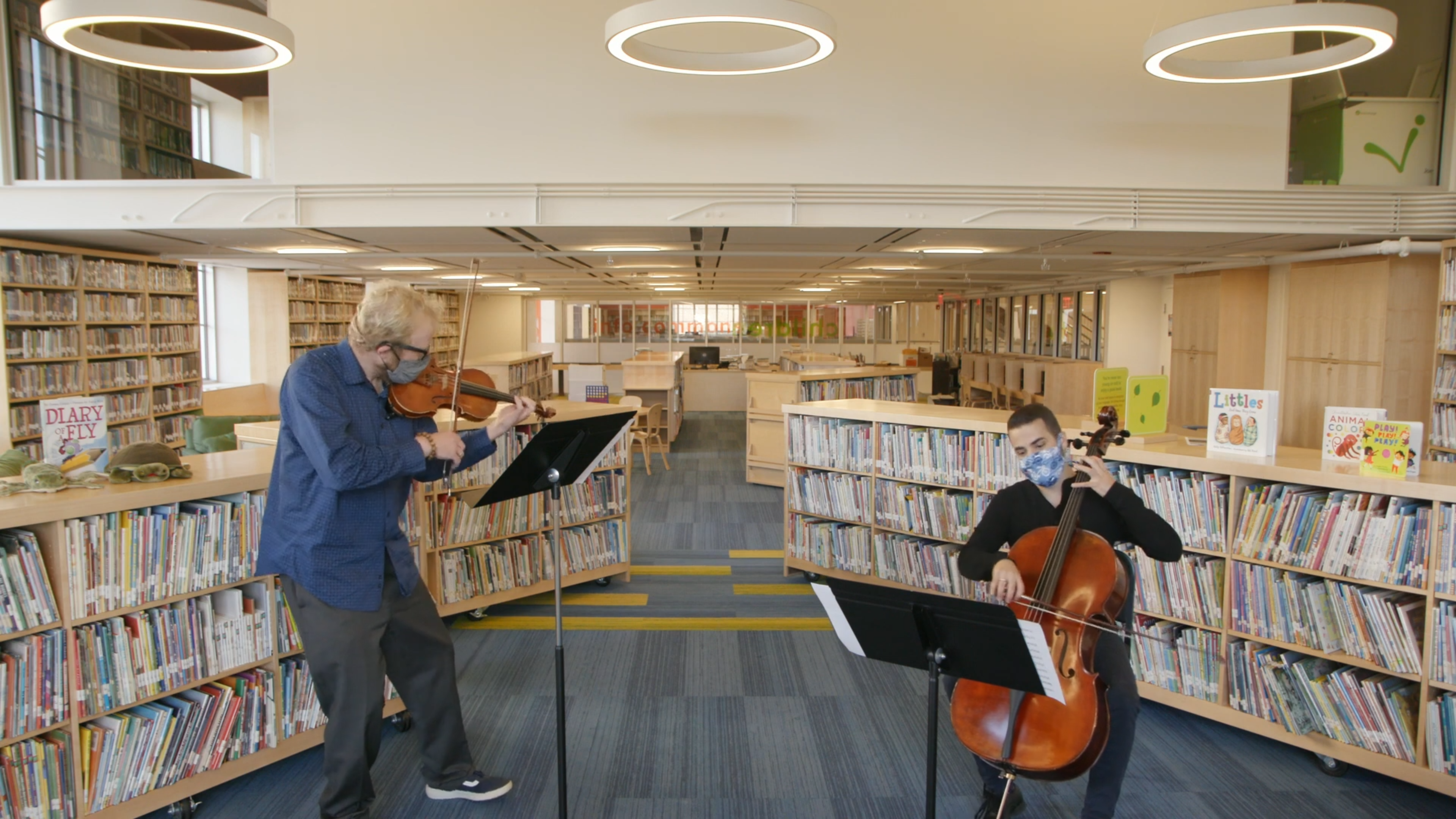 CMW duet in the Children's Library