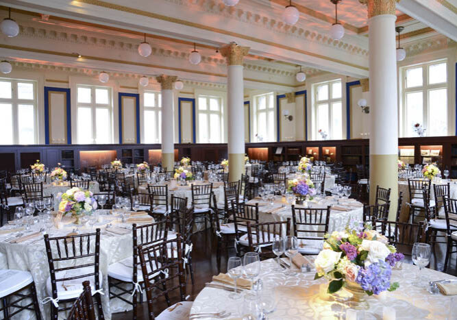 Providence Public Library Ship Room decorated for a special event