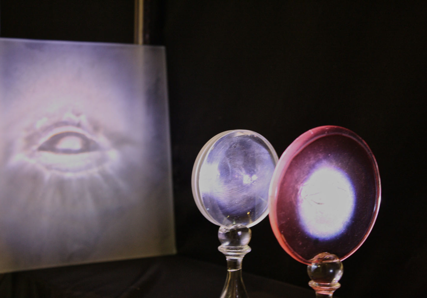 An image of a magic lantern show performed at Providence Public Library