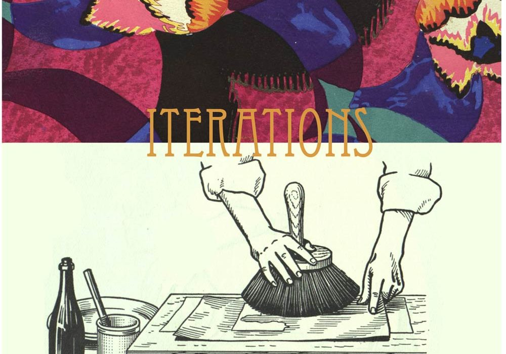 Iterations exhibition announcement poster
