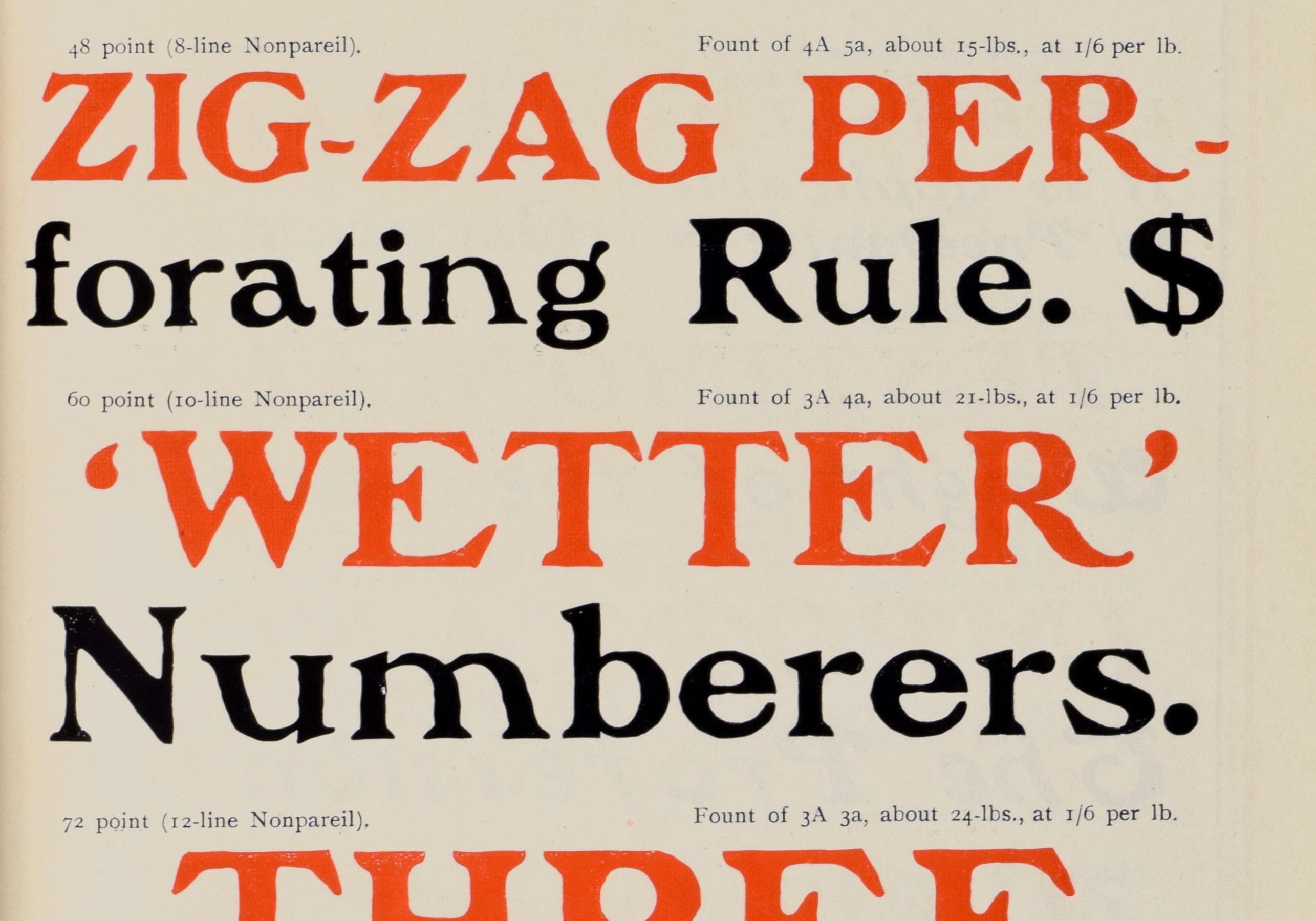 type specimen page
